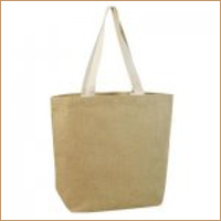 Large Shopper Tote with Cotton Ribbon Handle