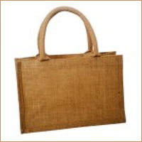 Medium Jute Shopper with Cotton Webbing Handles