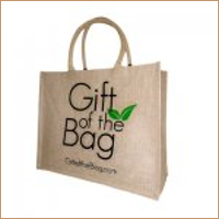 Large Jute Shopper with Cotton Webbing Handle