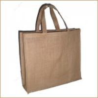 Four Bottle Bag with Jute Handle