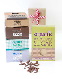 Organic carob and cocoa powder